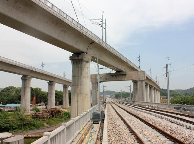 错综复杂的铁路桥