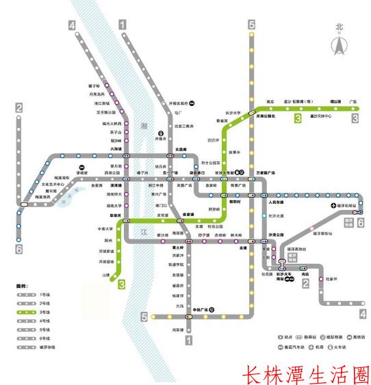 长沙地铁3号线路图