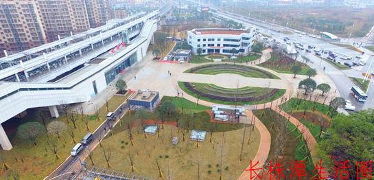 长株潭城际铁路先锋站实现城铁、地铁、公交线路无缝换乘