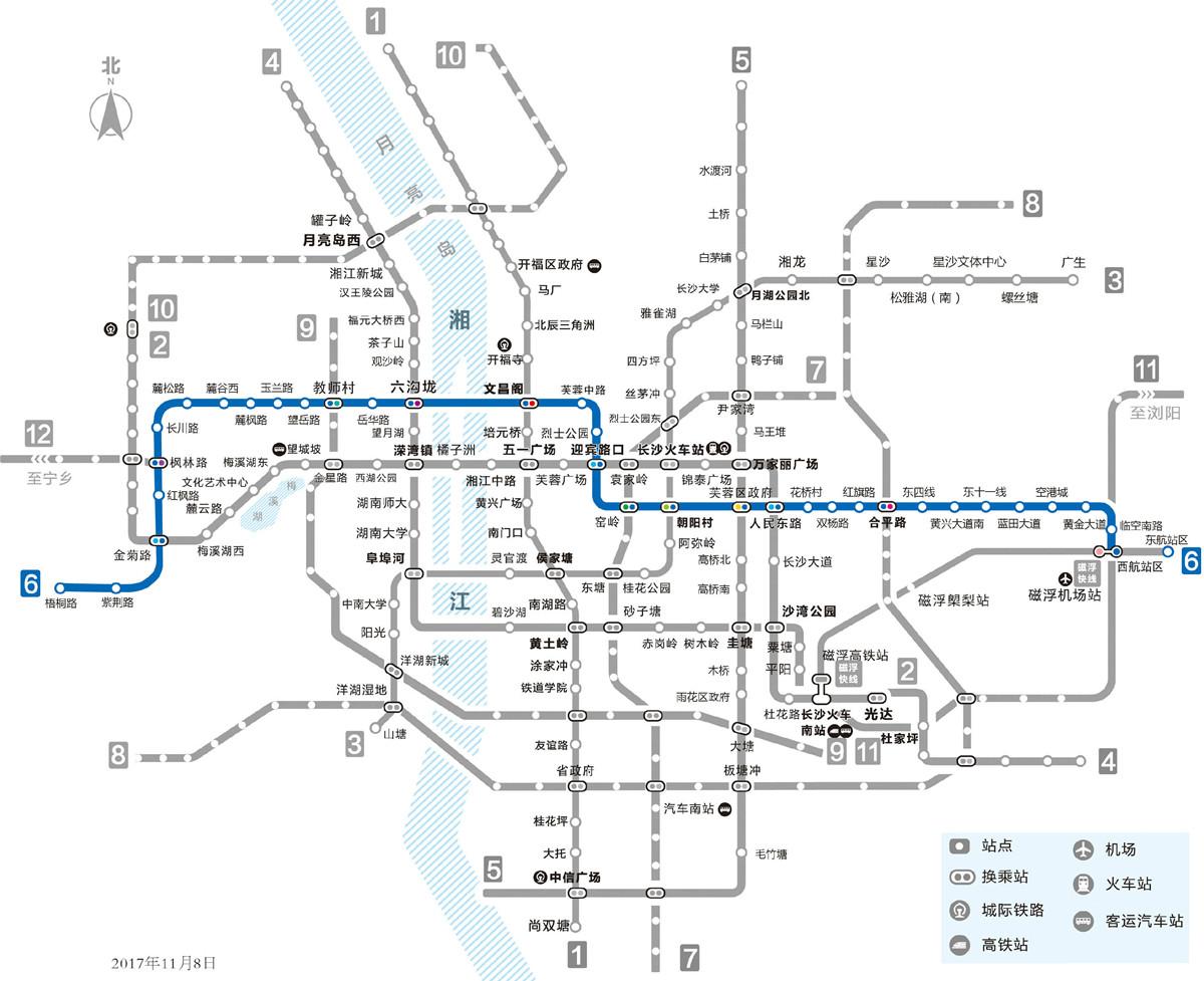 长沙地铁6号线路图