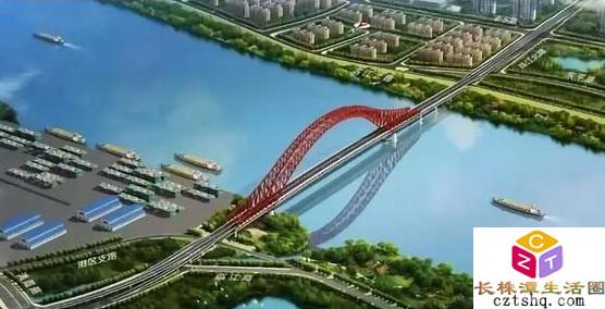 株洲市清水塘大桥年底动工修建,一睹大桥效果图风采