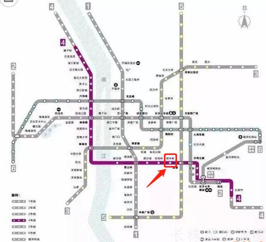 长沙4号地铁线在哪一站能与城际铁路换乘