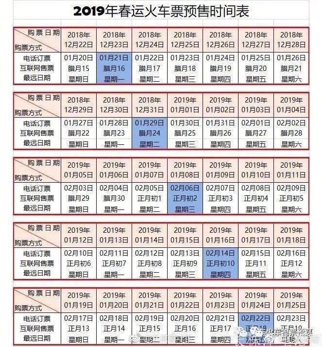2019年春运起止时间 订票时间表 长沙起售时间